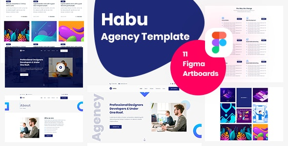 Habu - Creative Agency, Digital Agency Figma Template - Creative Figma