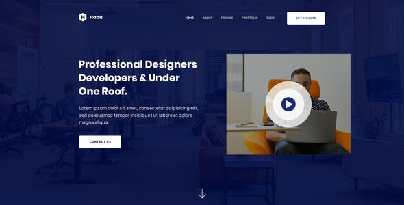 Habu - Creative Agency, Digital Agency Figma Template