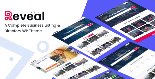 Reveal - Directory & Listing WordPress Theme - Directory & Listings Corporate