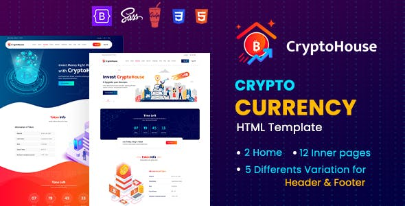 CryptoHouse - Minimal & Professional Crypto Currency HTML Template