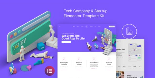 Landon – Tech Company & Startup Elementor Template Kit