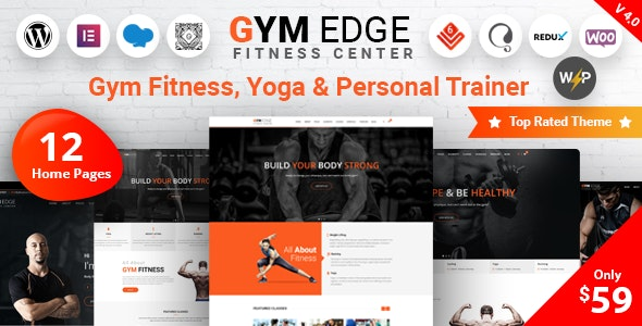Gym Edge - Fitness WordPress Theme - Health & Beauty Retail