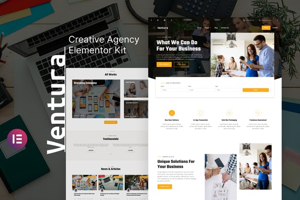 Ventura - Creative Agency Elementor Template Kit - Creative & Design Elementor