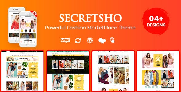 SecretSho - Fashion Shop WordPress WooCommerce MarketPlace Theme (Mobile Layout Included)