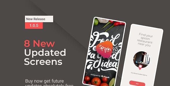 Spoon | Food Ordering and Restaurant Mobile App Figma UI kit