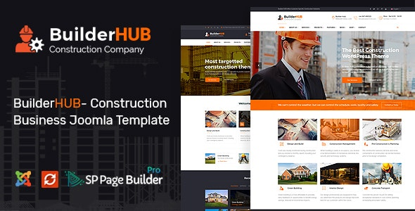 Builder HUB- Construction Business Joomla Template - Business Corporate