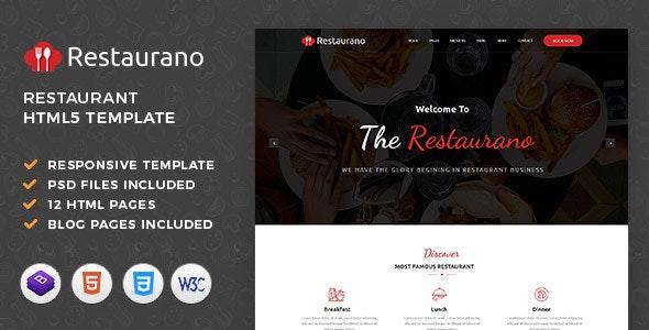 Restaurano | Restaurant HTML Template - Restaurants & Cafes Entertainment