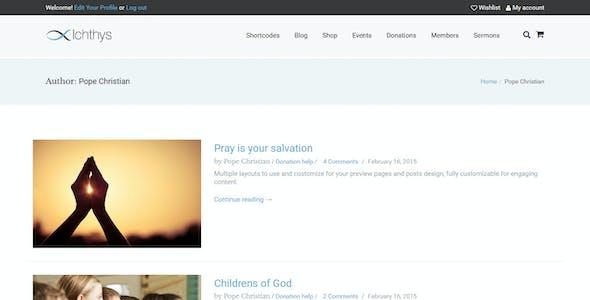 Ichthys - Church WordPress Theme