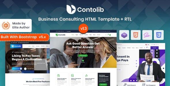 Contolib - Consulting Bootstrap 5 Template