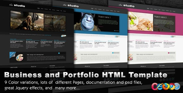 The Studio - 9 in 1 -  Portfolio/Business Template - Corporate Site Templates