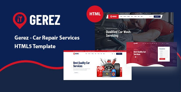 Gerez - Car Repair Services HTML5 Template - Business Corporate
