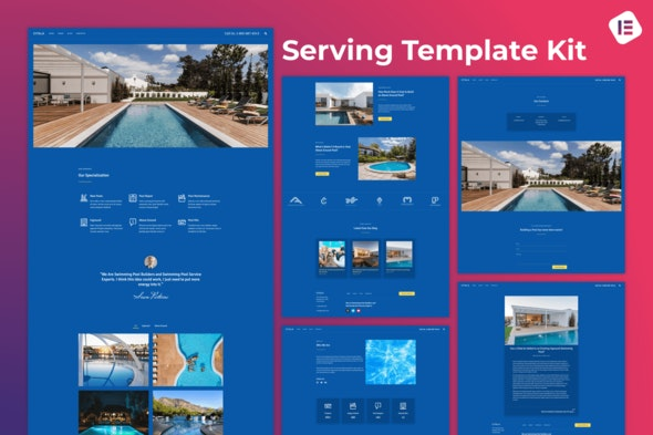 Citala — Swimming Pool Maintenance Company Elementor Template Kit - Business & Services Elementor