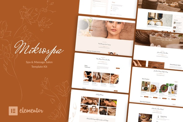 Mikrospa - Spa & Massage Elementor Template Kit - Fashion & Beauty Elementor