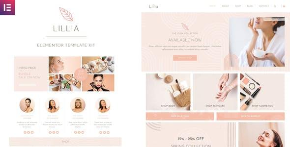 Lillia - Beauty & Skincare Elementor Template Kit