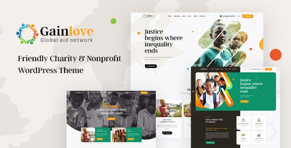 Gainlove - Nonprofit Charity WordPress Theme
