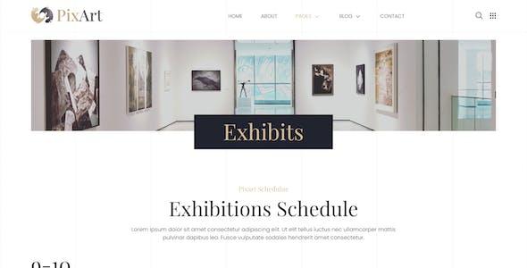Pixart – Arts & Crafts Exhibition Elementor Template Kit