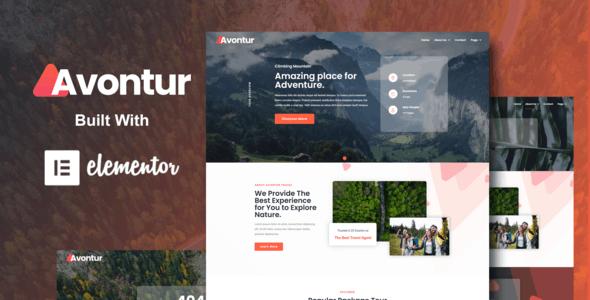 Avontur - Modern Tour & Travel Elementor Template Kit