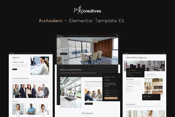 Archodern - Interior & Architecture  Elementor Template Kit - Business & Services Elementor