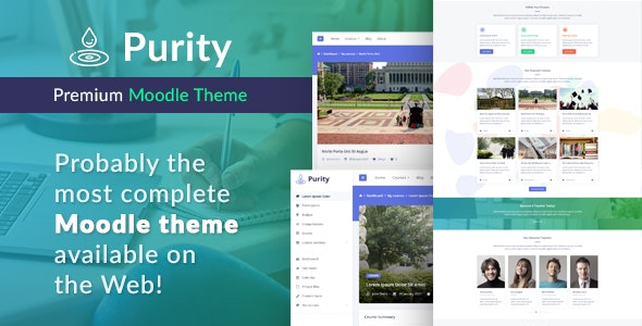 Purity - Premium Moodle Theme - Moodle CMS Themes