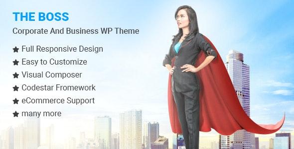 The Boss v1.0.6 – Corporate & Business WordPress Theme