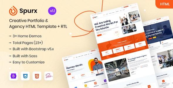 Spurx - Agency & Portfolio HTML Template - Portfolio Creative