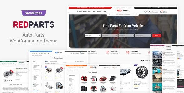 RedParts - Auto Parts WordPress Theme - WooCommerce eCommerce