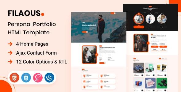 Filaous - Personal Portfolio HTML Template - Portfolio Creative