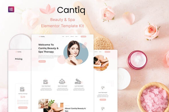 Cantiq - Beauty Spa Salon Therapy Elementor Template Kit - Fashion & Beauty Elementor