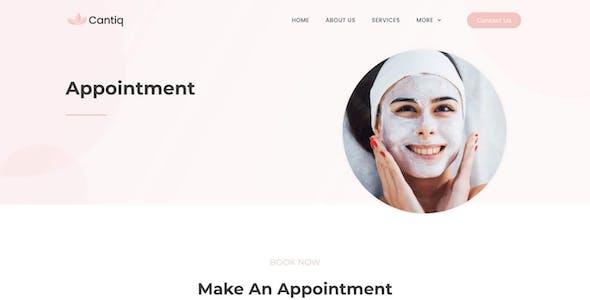 Cantiq - Beauty Spa Salon Therapy Elementor Template Kit
