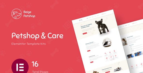 Beige - Pet Shop Woocommerce Elementor Template Kit