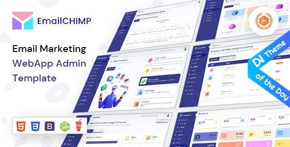 EmailChimp - VueJS, Laravel, HTML Marketing Tool Admin Template - Admin Templates Site Templates
