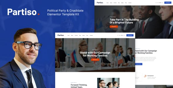 Partiso | Political Party & Candidate Elementor Template Kit