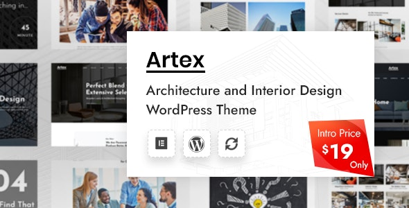 Artex - Architecture & Interior WordPress Theme - Portfolio Creative