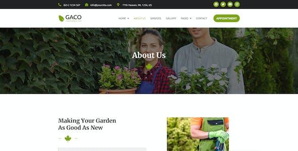 Gaco - Landscape & Gardening Figma Template KF