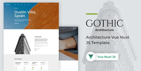 Gothic Architecture Vue Nuxt JS Template