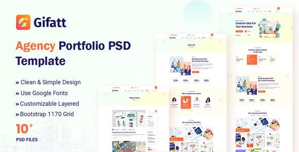 Gifatt - Agency Portfolio PSD Template - Portfolio Creative