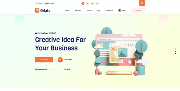 Gifatt - Agency Portfolio PSD Template