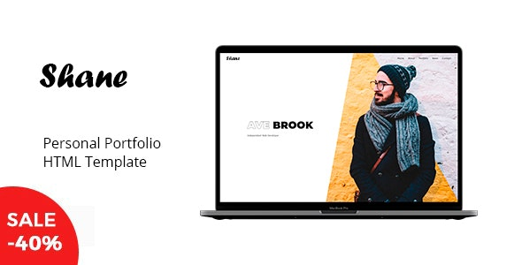 Shane - Personal Portfolio Template - Virtual Business Card Personal