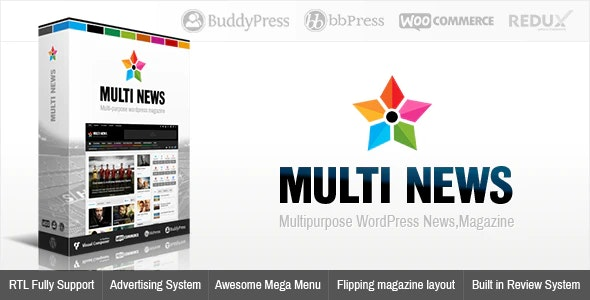 Multinews | Magazine WordPress Theme - News / Editorial Blog / Magazine