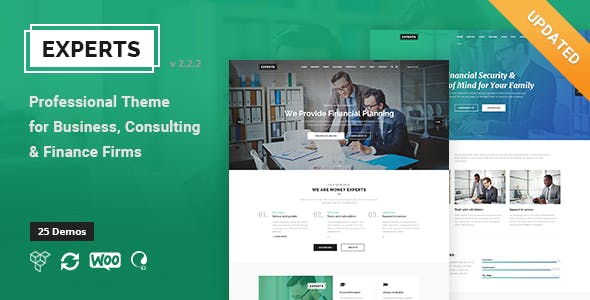 Experts - Business Professional Theme For Finance Firms