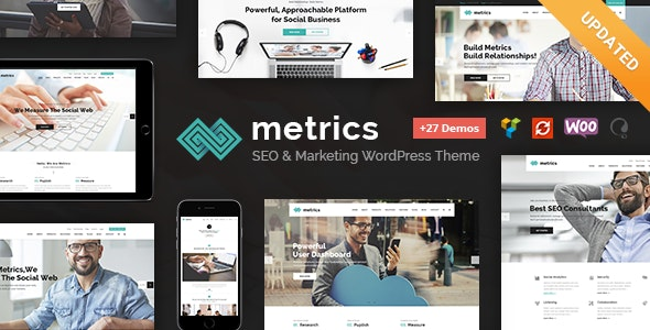 Metrics - SEO, Digital Marketing, Social Media WordPress Theme - Marketing Corporate