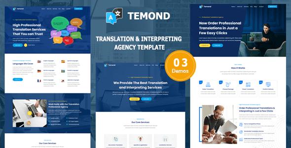 Temond - Translation & Interpreting Agency Template