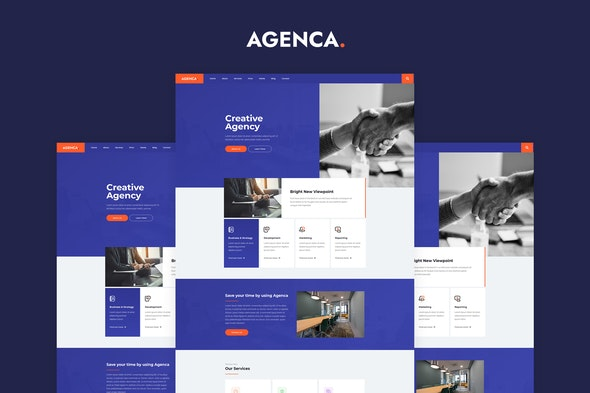 Agenca - Creative Agency Elementor Template Kit - Creative & Design Elementor