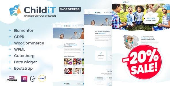 Childit - Kindergarten Elementor WordPress Theme - Children Retail