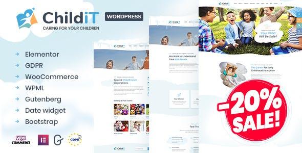 Childit - Kindergarten Elementor WordPress Theme