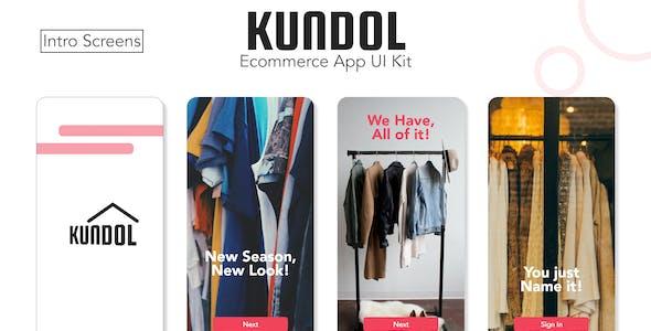 Kundol - Ecommerce App UI Template for XD
