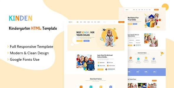 Kinden - Kindergarten HTML Template - Children Retail