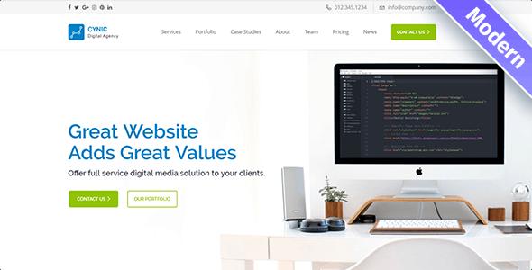Cynic - Digital Agency WordPress Theme