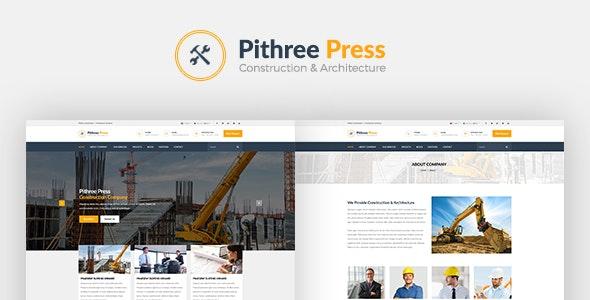 Pithree – Construction & Building WordPress Theme - Business Corporate