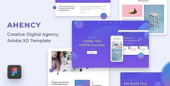 AHENCY - Creative Digital Agency Figma Template - Portfolio Creative